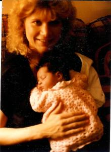 Jeanne and Baby Maggie